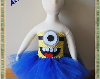 Minion Halloween Costume - One Eyed Little Guy Inspired Tutu Costume Minions