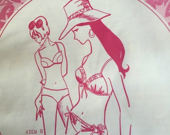 1960's Vintage Hawaiian Bikini Pattern