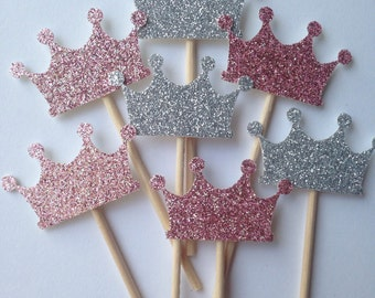 Princess Crown Cupcake Toppers