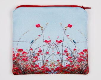 """Holster/pouch, """"Starling"""", red and blue, 6 1 / 2 x 6 """""""