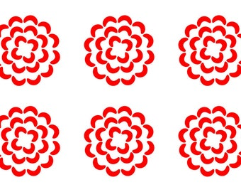 Flower Head SVG Cutting Pattern - For printing, stencils, cutting and material printing
