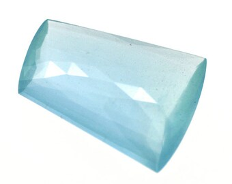 18*25mm 100% Natural Aquamarine Gemstone Uneven Fancy Cut 19.55cts for jewelry