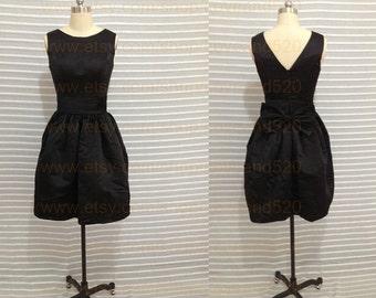 Custom Little Black Dress,2017 maternity dress, black bridesmaid dress, short evening dress, short prom dress New Arrive