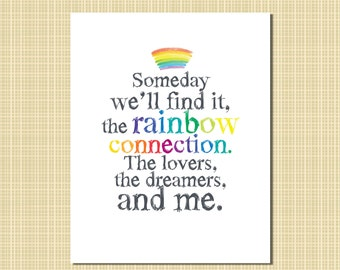 rainbow connection print