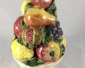 Italian Ceramic Fruit Topiary/Centerpiece Dated 1950