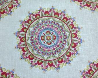 Margarita Garden Suzani Fabric - Suzani Upholstery Fabric By The Yard - Multicolored Suzani Fabric