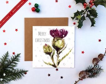 6 Flower of Scotland Christmas Cards