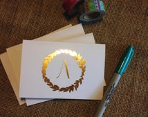 Personalized Foil Note Cards + Envelopes (set of 8)