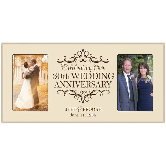 What Is The 30th Wedding Anniversary Gift: 30th Wedding Anniversary Photo Frame, Personalizied 30th