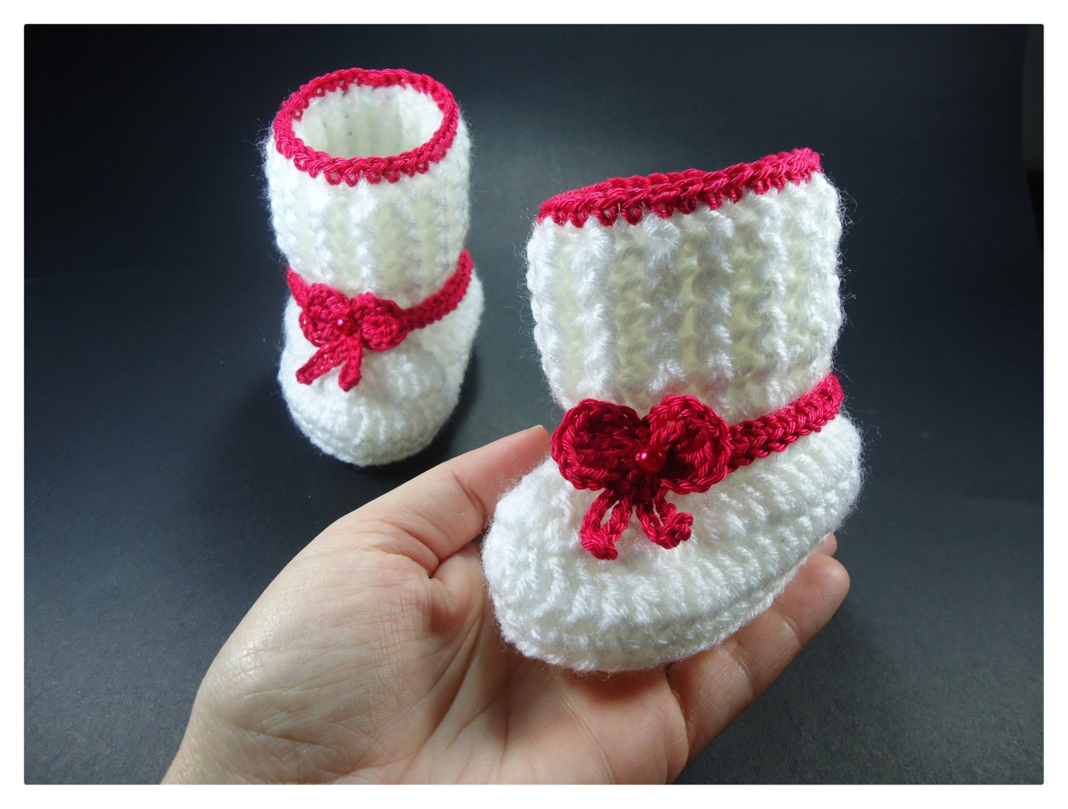 Crochet Baby booties Baby shoes Custom baby shoes fashion