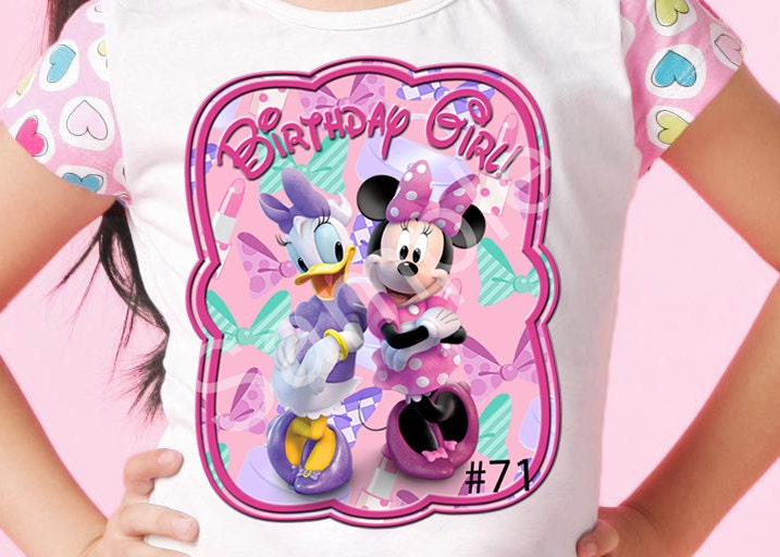 Minnie Mouse & Daisy Duck 71Printable DIY Iron-on Pink