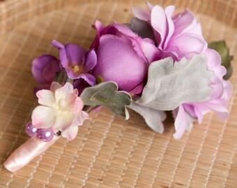 Hair accessory of purple flowers, hair piece