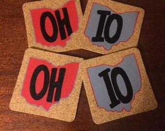 Set of 4 Ohio State Coasters