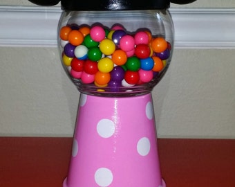 Minnie Mouse Centerpiece, Gumball Machine Inspired Craft from the 1900's
