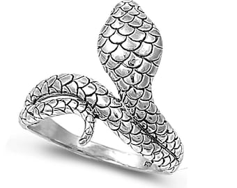 Snake Ring 21MM Sterling Silver 925