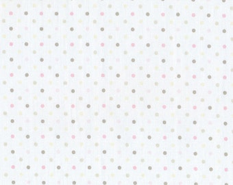 Leutenegger Guess How Much I Love You Polka Dots Pink/White (Half metre)
