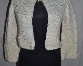 vest mohair vest sweater wool sweater cardigan jacket sweater mohair short jacket warm women's shawl knitting women's Bolero