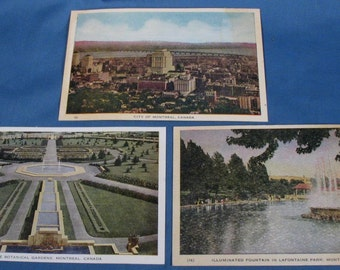 Vintage Postcards - Montreal Canada - Set of Three - Unmailed
