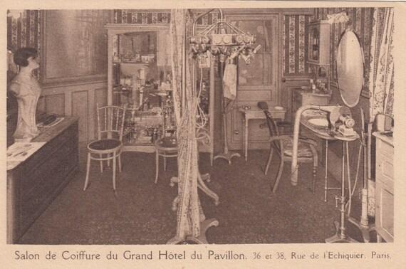1920s salon du coiffure du grand hotel du pavillon paris. Black Bedroom Furniture Sets. Home Design Ideas