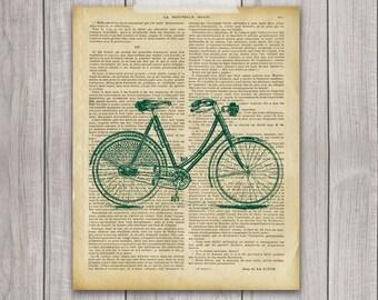 75% OFF SALE - Bike Print - 8x10 Bicycle Art, Vintage Bike, Vintage Print, Bike Decor, Printable Art, Bicycle Wall Decor, Bicycle Decor