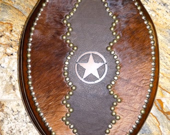 Western Star Toilet Seat With Leather and Cowhide