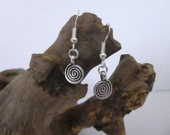 Sweet Circle Tibetan Silver earrings, Silver Earrings
