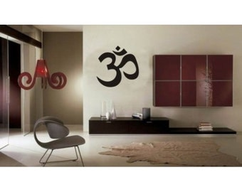 """Om Symbol Wall Decal StickerVinyl Decal Wall Art Wall Decal Size 24"""" x 24"""" by BannerBuzz Free Shipping in US"""