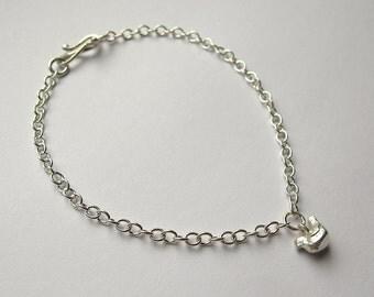 Handmade Hallmarked Sterling Silver Fat Birdie Charm Bracelet