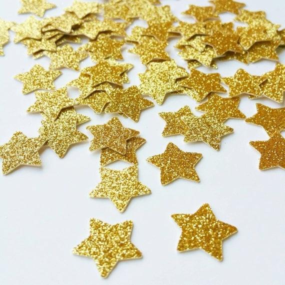 Gold confetti star glitter table