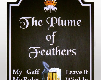 Personalised Pub sign Hand painted  wooden, birthday gift for men, Bar sign, BBQ, custom made, English Pub