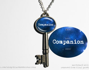 Doctor Who Inspired Companion Key Necklace or Keychain - Handmade