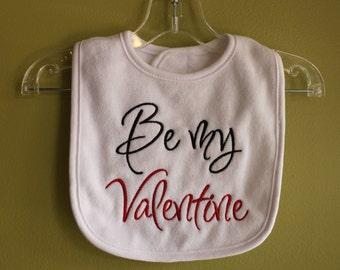 Be My Valentine Baby Bib