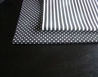 Beautiful Wedding Table Runner in Black and White Thin Stripes  Custom sizes available