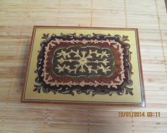 Wood inlay box