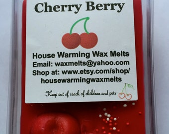 Cherry Berry Wax Melt, Wax Tart, Breakaway Wax Clamshell