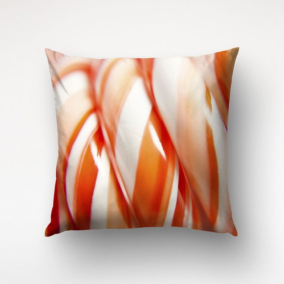 Christmas Candy Pillow, Food Photography, Kitchen Decor, Photo Printed