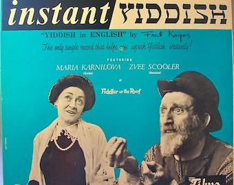 Instant Yiddish Fred Kogos' Yiddish in English 1960s Original Vinyl
