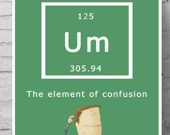 Science Poster - Um the element of confusion