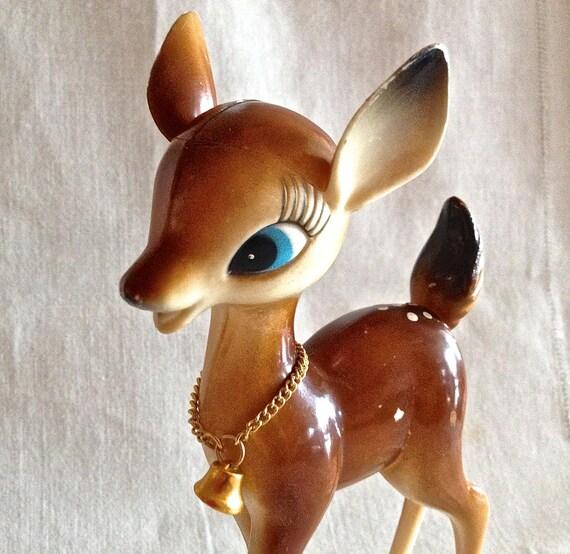 Vintage Kitsch Bambi Fawn Hard Plastic Deer Mid Century