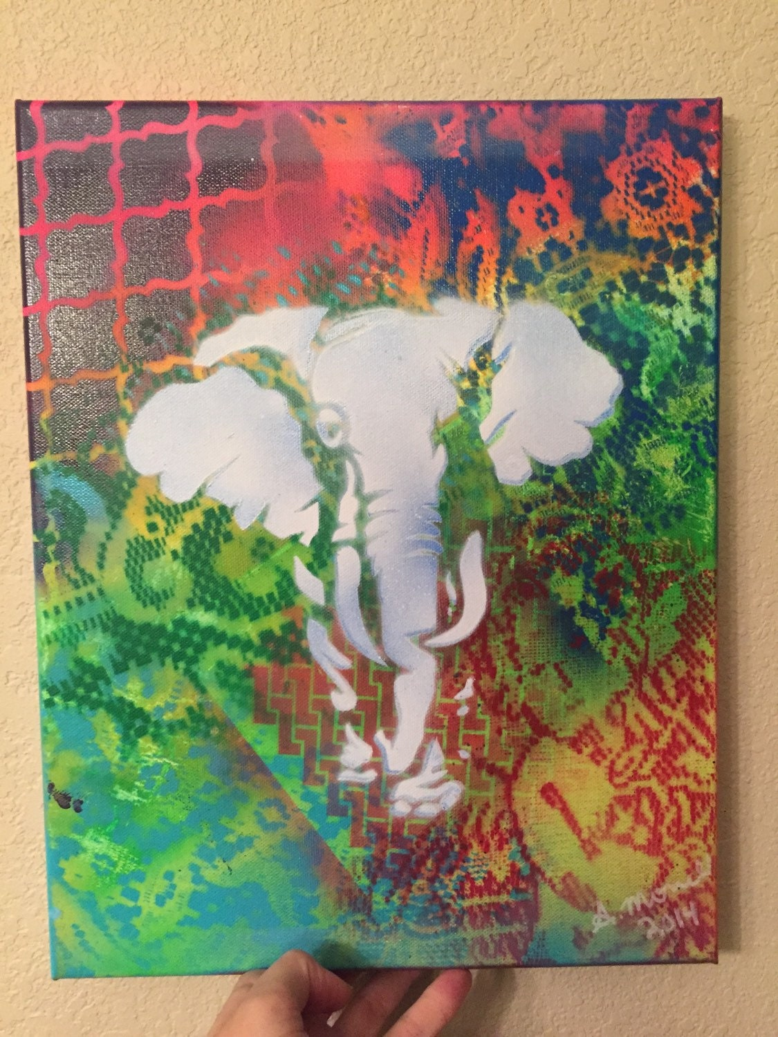 white elephant in the room 14x11 spray paint by. Black Bedroom Furniture Sets. Home Design Ideas