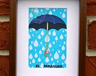 La Paraguas- Mexican Loterîa Print