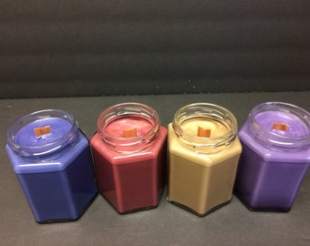100% Soy Wood Wick Container Candle