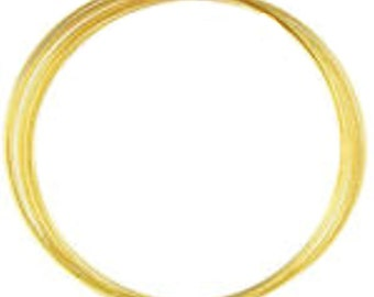12-loop Memory Wire Necklace: gold plated finish