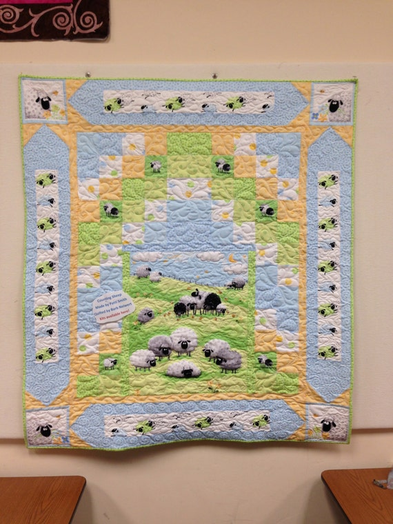 Counting Sheep Baby Quilt Kit Fabrics By Susy Bee Pattern By
