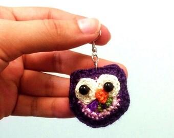 Crochet Owl Earings