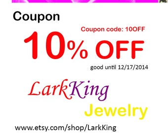 Etsy coupon code jewelry