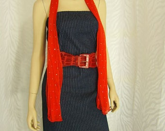 2-N-1 Denim Tube Dress/Pencil Skirt