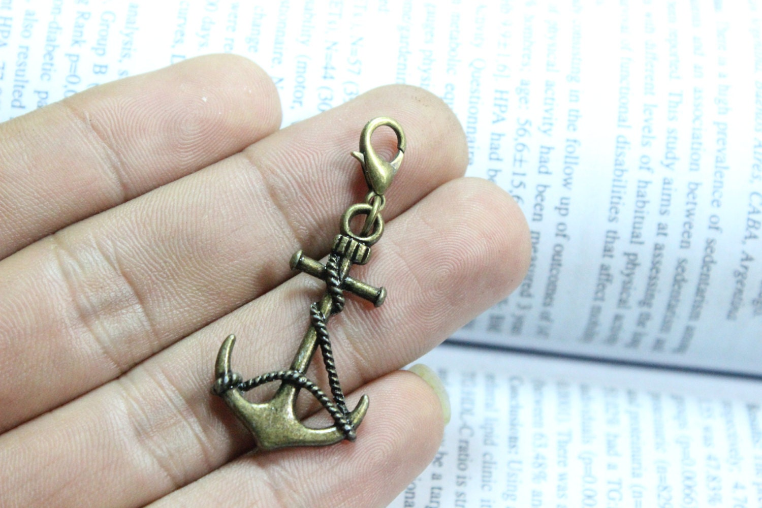 Anchor charms - Antique brass Thick Anchor Charm Pendant 33*19mm steampunk buy now online
