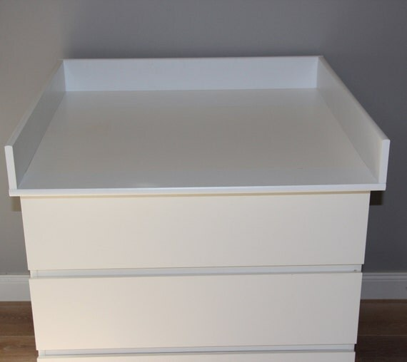 Ikea Patrull Safety Gate Reviews ~ Round edges Changing table for IKEA Malm dresser by PuckDaddy88
