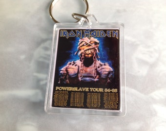 Iron Maiden Merchandise / Vintage tour poster / keyring / Heavy Metal / Rock / Music / gift / Keychain /  Print